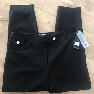 Karl Lagerfeld NWT Black Ankle Pants Sz 14